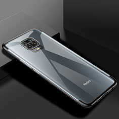Funda Silicona Ultrafina Carcasa Transparente S01 para Xiaomi Redmi Note 9 Pro Negro