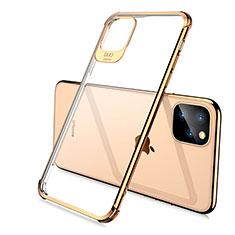 Funda Silicona Ultrafina Carcasa Transparente S02 para Apple iPhone 11 Pro Oro