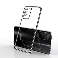 Funda Silicona Ultrafina Carcasa Transparente S02 para Huawei Honor X10 5G Negro