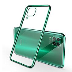 Funda Silicona Ultrafina Carcasa Transparente S02 para Huawei P40 Lite Verde