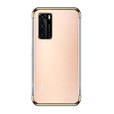 Funda Silicona Ultrafina Carcasa Transparente S02 para Huawei P40 Oro