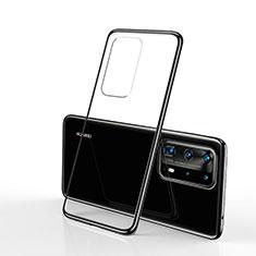 Funda Silicona Ultrafina Carcasa Transparente S02 para Huawei P40 Pro Negro