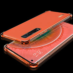 Funda Silicona Ultrafina Carcasa Transparente S02 para Oppo Find X2 Pro Rojo