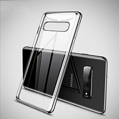 Funda Silicona Ultrafina Carcasa Transparente S02 para Samsung Galaxy S10 5G Plata