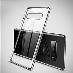 Funda Silicona Ultrafina Carcasa Transparente S02 para Samsung Galaxy S10 Plata