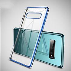 Funda Silicona Ultrafina Carcasa Transparente S02 para Samsung Galaxy S10 Plus Azul