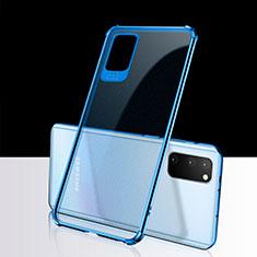 Funda Silicona Ultrafina Carcasa Transparente S02 para Samsung Galaxy S20 5G Azul