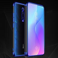 Funda Silicona Ultrafina Carcasa Transparente S02 para Xiaomi Mi 9T Pro Azul