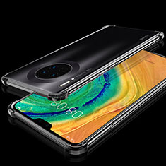Funda Silicona Ultrafina Carcasa Transparente S03 para Huawei Mate 30 Negro
