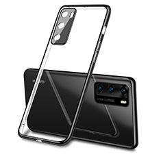 Funda Silicona Ultrafina Carcasa Transparente S03 para Huawei P40 Negro
