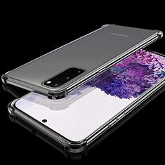 Funda Silicona Ultrafina Carcasa Transparente S03 para Samsung Galaxy S20 5G Negro