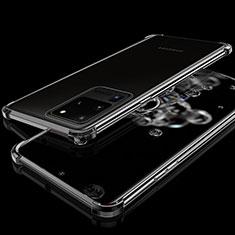 Funda Silicona Ultrafina Carcasa Transparente S03 para Samsung Galaxy S20 Ultra 5G Negro