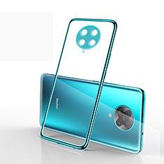 Funda Silicona Ultrafina Carcasa Transparente S03 para Xiaomi Redmi K30 Pro 5G Cian