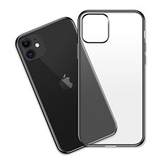 Funda Silicona Ultrafina Carcasa Transparente S04 para Apple iPhone 11 Negro