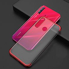 Funda Silicona Ultrafina Carcasa Transparente S04 para Huawei Honor 20 Lite Rojo