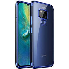 Funda Silicona Ultrafina Carcasa Transparente S04 para Huawei Mate 20 Azul