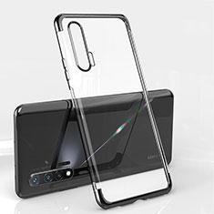 Funda Silicona Ultrafina Carcasa Transparente S04 para Huawei Nova 6 5G Negro