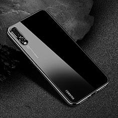 Funda Silicona Ultrafina Carcasa Transparente S04 para Huawei P20 Pro Negro