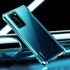 Funda Silicona Ultrafina Carcasa Transparente S04 para Huawei P40 Pro Cian