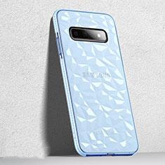 Funda Silicona Ultrafina Carcasa Transparente S04 para Samsung Galaxy S10 Negro