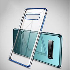 Funda Silicona Ultrafina Carcasa Transparente S04 para Samsung Galaxy S10 Plus Azul