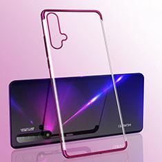 Funda Silicona Ultrafina Carcasa Transparente S05 para Huawei Nova 5 Pro Morado