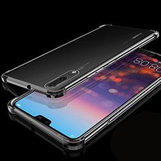Funda Silicona Ultrafina Carcasa Transparente S05 para Huawei P20 Negro