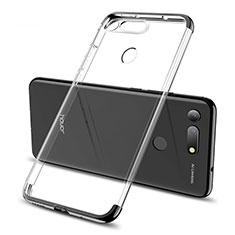 Funda Silicona Ultrafina Carcasa Transparente S06 para Huawei Honor V20 Negro