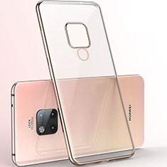 Funda Silicona Ultrafina Carcasa Transparente S06 para Huawei Mate 20 X 5G Oro