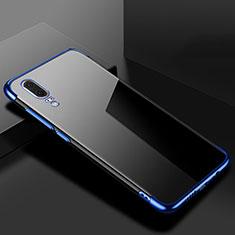 Funda Silicona Ultrafina Carcasa Transparente S07 para Huawei P20 Azul