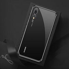 Funda Silicona Ultrafina Carcasa Transparente S07 para Huawei P20 Pro Negro