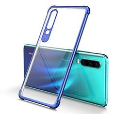 Funda Silicona Ultrafina Carcasa Transparente U01 para Huawei P30 Azul