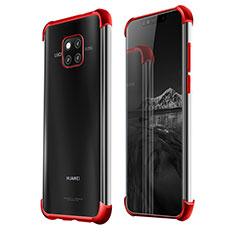 Funda Silicona Ultrafina Carcasa Transparente U03 para Huawei Mate 20 Pro Rojo