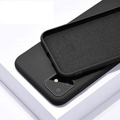 Funda Silicona Ultrafina Goma 360 Grados Carcasa C01 para Apple iPhone 11 Negro