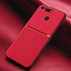 Funda Silicona Ultrafina Goma 360 Grados Carcasa C01 para Huawei Honor V20 Rojo