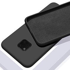 Funda Silicona Ultrafina Goma 360 Grados Carcasa C01 para Huawei Mate 20 Pro Negro