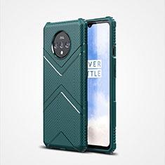 Funda Silicona Ultrafina Goma 360 Grados Carcasa C01 para OnePlus 7T Verde