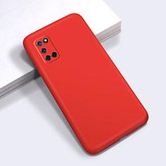 Funda Silicona Ultrafina Goma 360 Grados Carcasa C01 para Oppo A52 Rojo