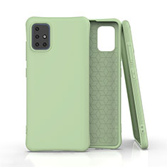 Funda Silicona Ultrafina Goma 360 Grados Carcasa C01 para Samsung Galaxy A51 5G Verde