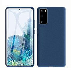 Funda Silicona Ultrafina Goma 360 Grados Carcasa C01 para Samsung Galaxy S20 5G Azul