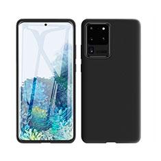 Funda Silicona Ultrafina Goma 360 Grados Carcasa C01 para Samsung Galaxy S20 Ultra 5G Negro