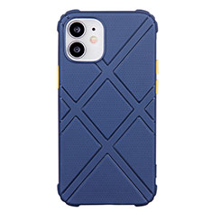 Funda Silicona Ultrafina Goma 360 Grados Carcasa C02 para Apple iPhone 12 Azul