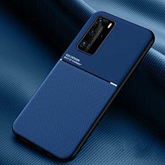 Funda Silicona Ultrafina Goma 360 Grados Carcasa C02 para Huawei P40 Pro Azul