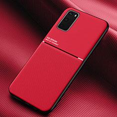 Funda Silicona Ultrafina Goma 360 Grados Carcasa C02 para Samsung Galaxy S20 5G Rojo