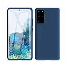 Funda Silicona Ultrafina Goma 360 Grados Carcasa C02 para Samsung Galaxy S20 Plus 5G Azul