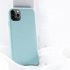 Funda Silicona Ultrafina Goma 360 Grados Carcasa C03 para Apple iPhone 11 Pro Max Cian