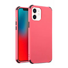 Funda Silicona Ultrafina Goma 360 Grados Carcasa C03 para Apple iPhone 12 Mini Rojo Rosa