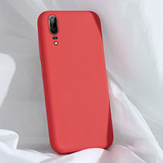 Funda Silicona Ultrafina Goma 360 Grados Carcasa C03 para Huawei P20 Rojo