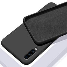 Funda Silicona Ultrafina Goma 360 Grados Carcasa C03 para Huawei P30 Negro