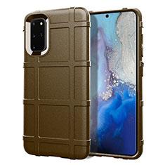 Funda Silicona Ultrafina Goma 360 Grados Carcasa C04 para Samsung Galaxy S20 Plus Marron
